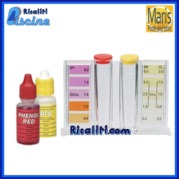 test kit analisi economico cloro e ph x analisi controllo