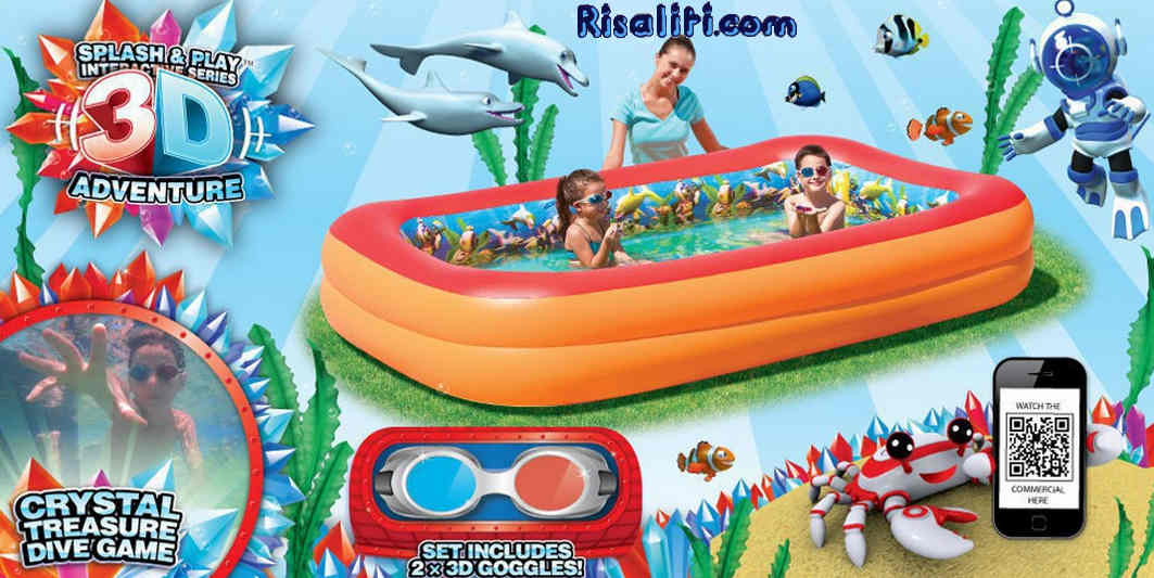 Piscina Splash and play avventura 3D Bestway cm 262X175X51 risaliti.com