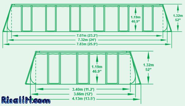 56475 piscina ultra frame bestway 732x366x132 pompa filtro for Bestway piscine e accessori