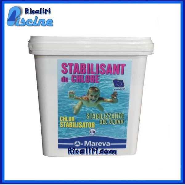 Stabilizzante di cloro per piscine granulare 5 kg mareva for Cloro nelle piscine