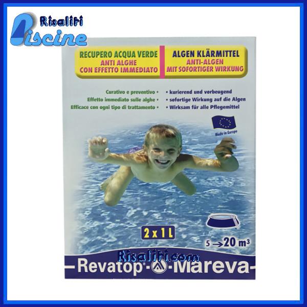 Revatop Alghicida Ossigeno trattamento pulizia Antialghe Piscina 2x1 l Mareva www.risaliti.com